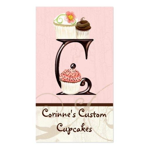 Letter C Monogram Dessert Bakery Business Cards