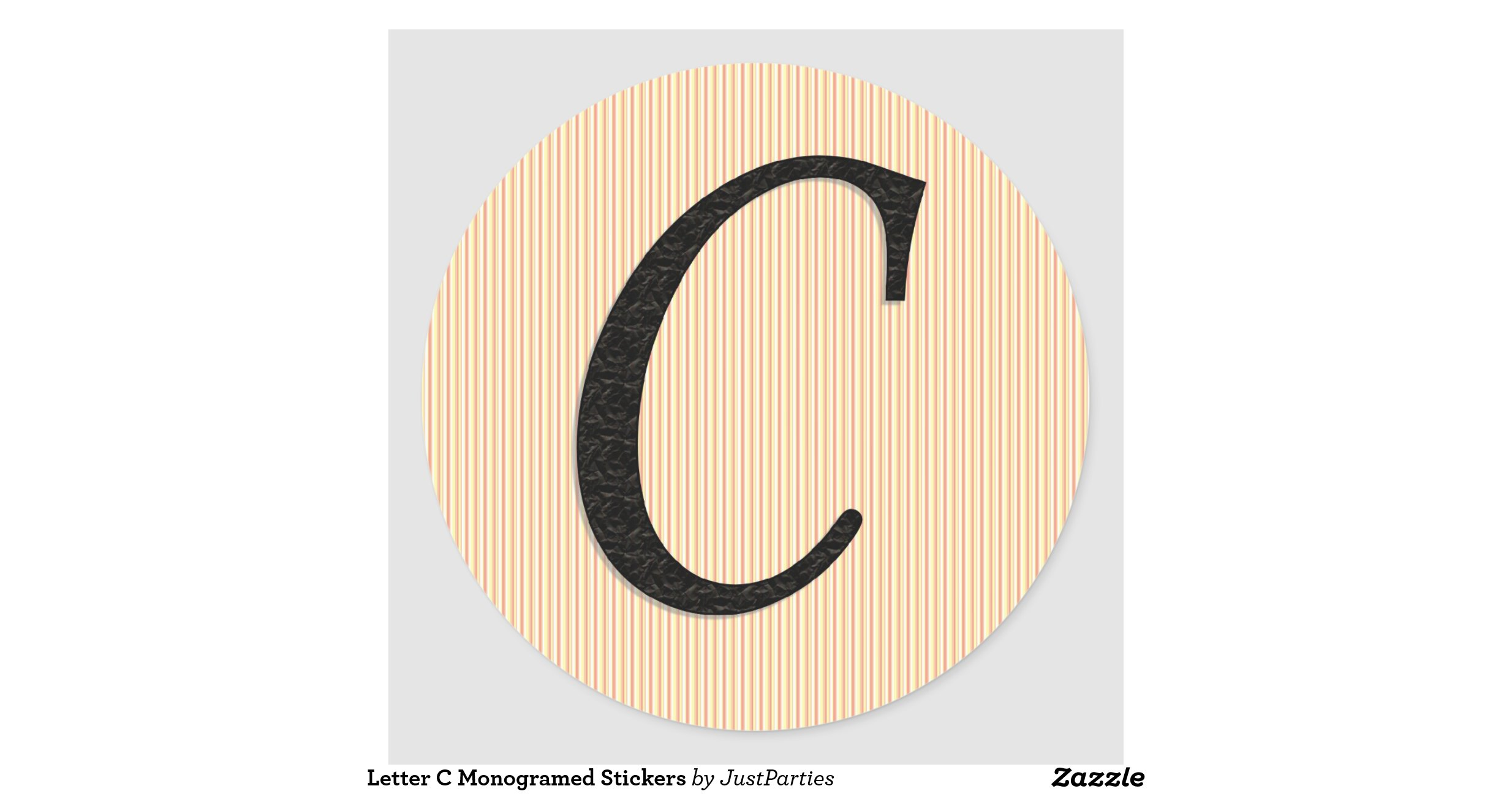 Letter c monogramed stickers for Letter c stickers