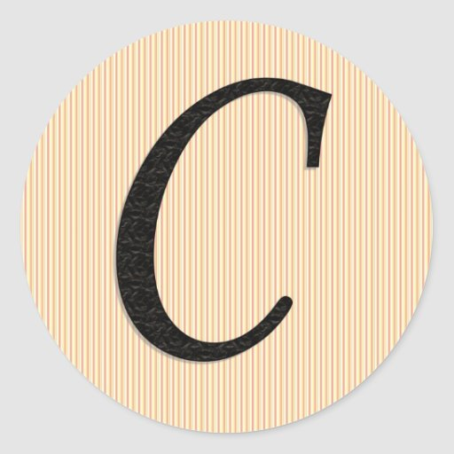 Letter C Monogramed Stickers