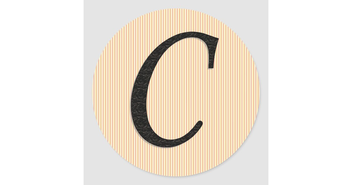 Letter c monogramed stickers zazzle for Letter c stickers