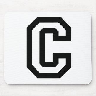 Letter C Mouse Pad
