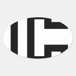 Letter C Oval Sticker