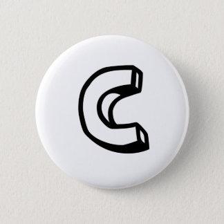 Letter C Pinback Button