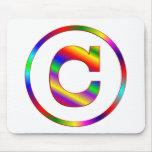Letter C Rainbow Mousepads