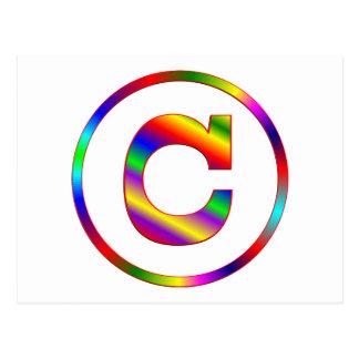 Letter C Rainbow Postcard