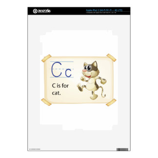 Letter C iPad 3 Decal