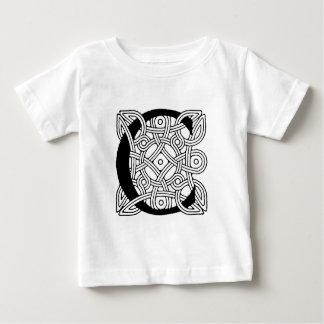 Letter C Vintage Celtic Knot Monogram Baby T-Shirt
