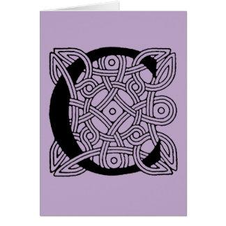Letter C Vintage Celtic Knot Monogram Card