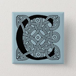 Letter C Vintage Celtic Knot Monogram Pinback Button
