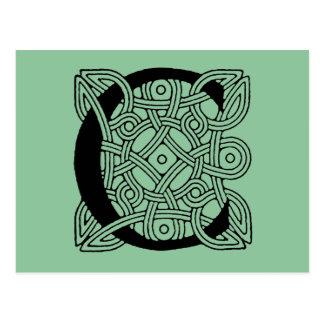 Letter C Vintage Celtic Knot Monogram Postcard