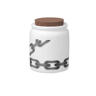 letter candy jar