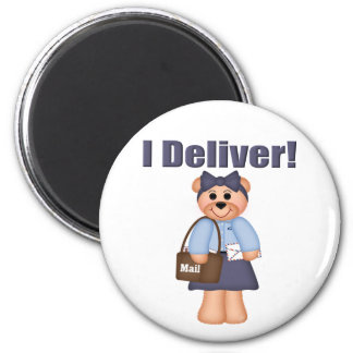 Letter Carrier 2 Inch Round Magnet