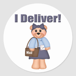 Letter Carrier Classic Round Sticker