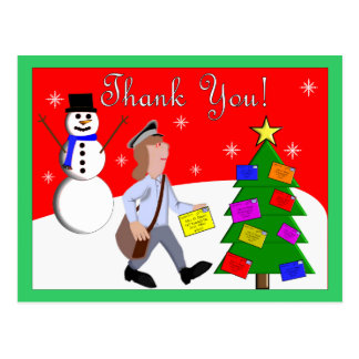 Letter Carrier (Mailman) Thank You Postcards