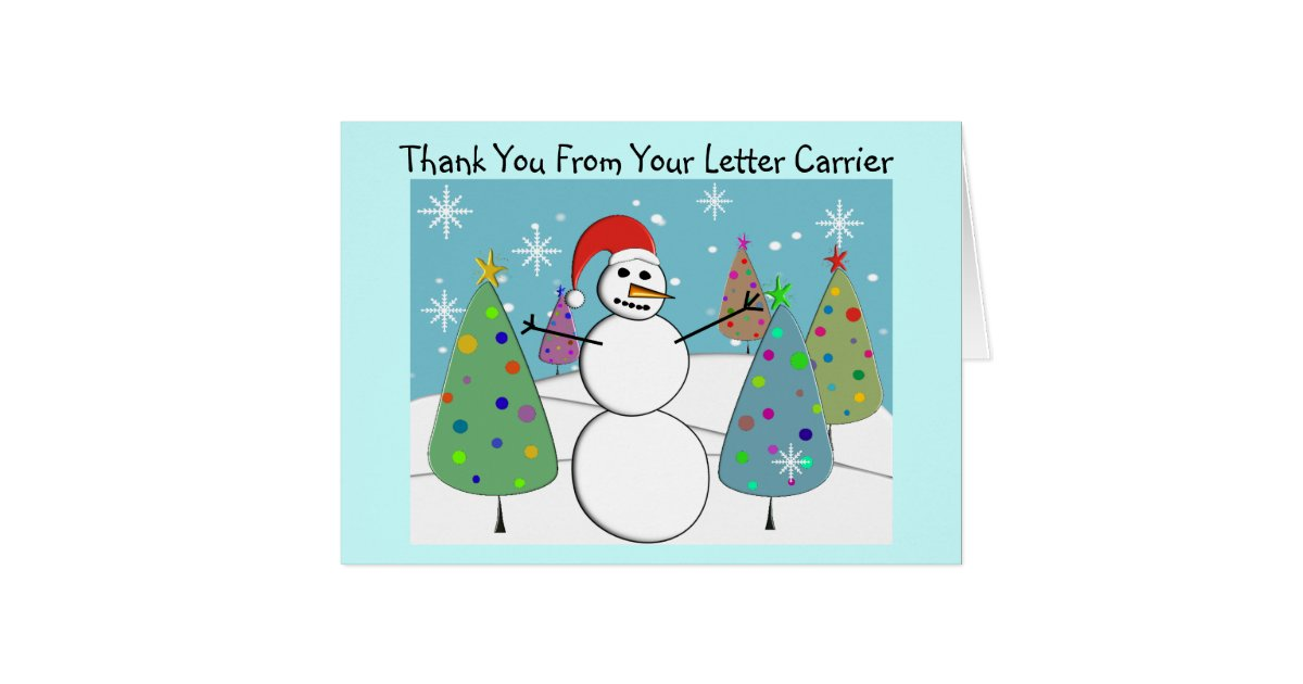 Letter Carrier Thank You Cards Zazzle Com