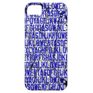 Letter Code Scratch Blue iPhone 5 Case