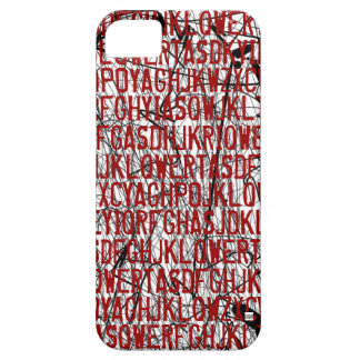 Letter Code Scratch Red iPhone 5 Case