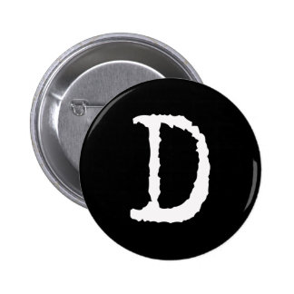 Letter D 2 Inch Round Button