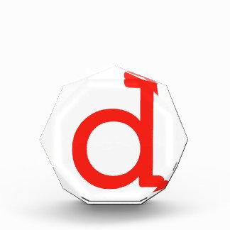 Letter d acrylic award
