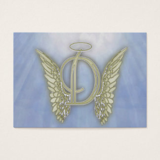 Letter D Angel Monogram Business Card