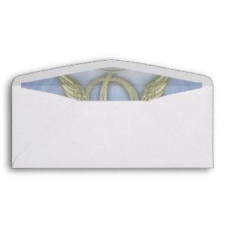 Letter D Angel Monogram Envelope