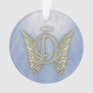 Letter D Angel Monogram Ornament