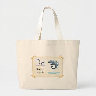 Letter D Jumbo Tote Bag