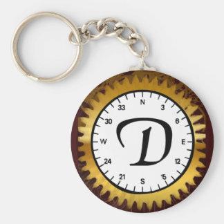 Letter D Clockwork Keychain