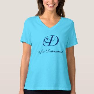 Letter D flourish determined T-Shirt