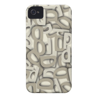 Letter D Gray Case-Mate iPhone 4 Case