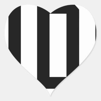 Letter D Heart Sticker