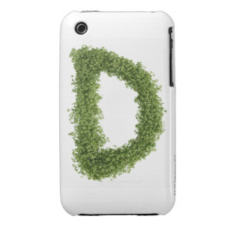 Letter 'D' in cress on white background, Case-Mate iPhone 3 Cases