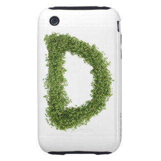 Letter 'D' in cress on white background, iPhone 3 Tough Cases
