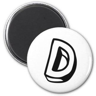 Letter D Magnet