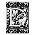 Letter D Medieval Monogram Vintage Initial Card