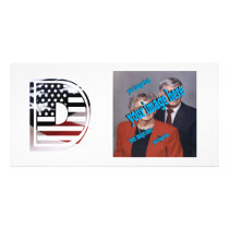 Letter D Monogram Initial USA Flag Pattern Card