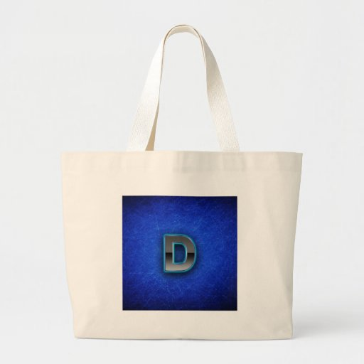 Letter D - neon blue edition Jumbo Tote Bag