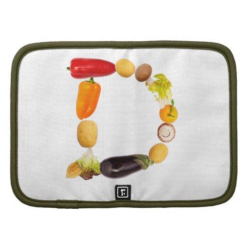 "letter ""d"" of fruits and vegetables organizador"