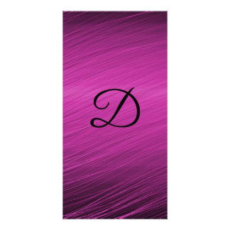 Letter D Personalized Photo Card