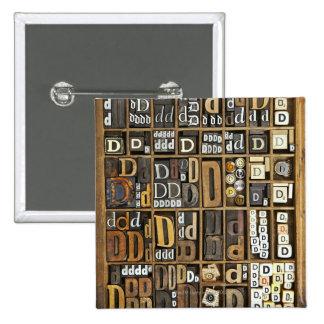 Letter D Pinback Button