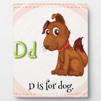 Letter D Plaque