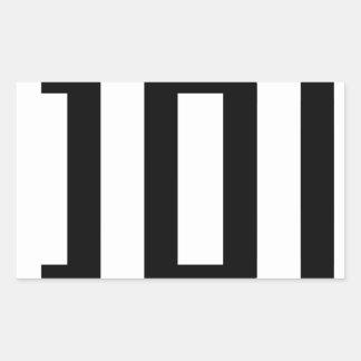 Letter D Rectangular Sticker