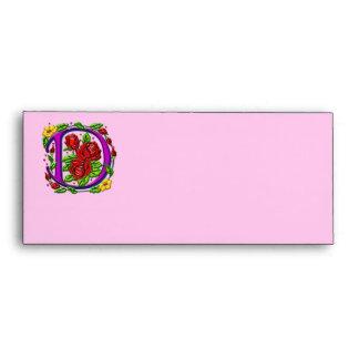 Letter D Rosette Envelope