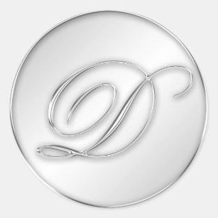 letter d wedding stickers labels zazzle