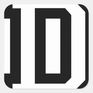Letter D Square Sticker