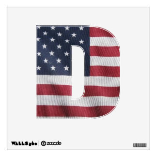 Letter D window decal