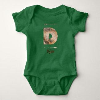 Letter D Wood Monogram Tee Shirt