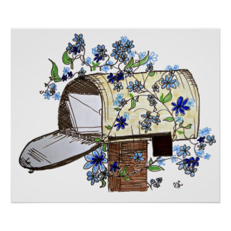 Letter Delivery Mailbox Art Poster