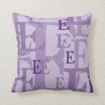 Letter E 2 Throw Pillows