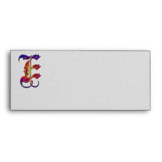 Letter E Alphabet Monogram Envelope